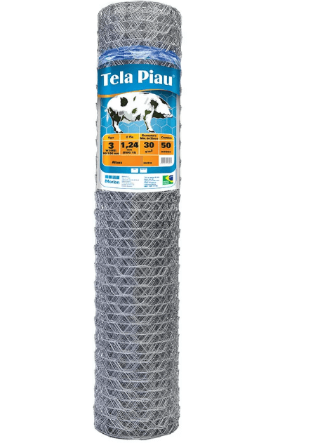 Tela de Mangueirão Morlan Piau 3″ fio BWG 18 (1,25mm) - 0,80 x 50 - Alambrado