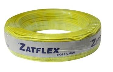 Cabo Flexível 2,5mm 100 Metros Amarelo 750V Zatflex