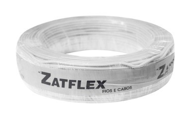 Cabo Flexível 1,5mm 100 Metros Branco 750V Zatflex