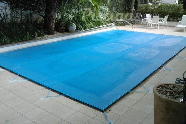 Capa para Piscina 300 Micra 17x7 Azul Branco Prata ou Laranja