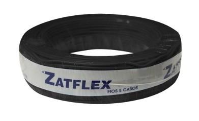 Cabo Flexível 2,5mm 100 Metros Preto 750V Zatflex