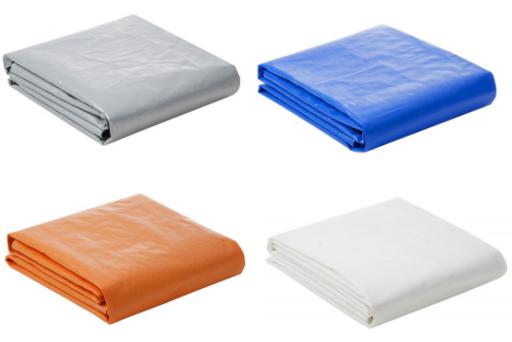 Lona Plástica 300 Micra com Ilhoses 8x7 Azul Branco Prata ou Laranja