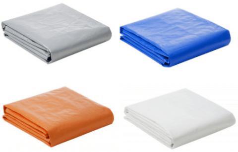 Lona Plástica 300 Micra com Ilhoses 3x3 Azul Branco Prata ou Laranja