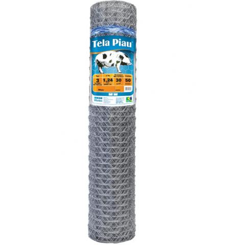 Tela para Mangueirão Morlan Piau 3″ fio BWG 18 (1,25mm) - 1,50 x 50 - de Arame