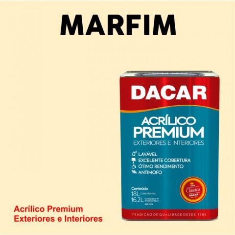 Tinta Dacar Acrílica Premium Exterior - Marfim 18lts