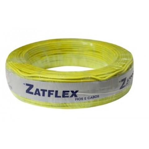 Cabo Flexível 6mm 100 Metros Amarelo 750V Zatflex