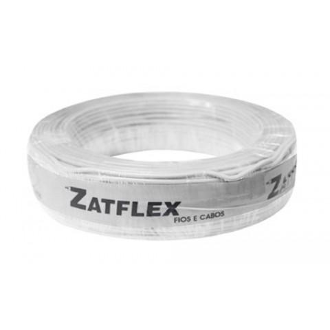 Cabo Flexível 4mm 100 Metros Branco 750V Zatflex