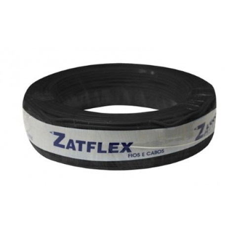 Cabo Flexível 6mm 100 Metros Preto 750V Zatflex