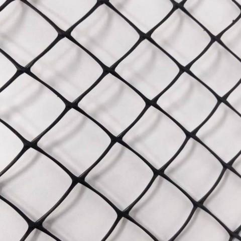"""Tela Plastica Hexagonal Preta 5 cm - Galinheiro 1x50m com malha de 2"""""""