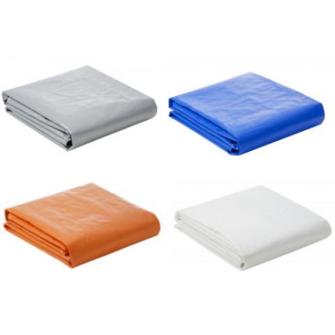 Lona Plástica 300 Micra com Ilhoses 12x6 Azul Branco Prata ou Laranja