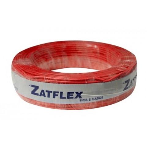 Cabo Flexível 6mm 100 Metros Vermelho 750V Zatflex