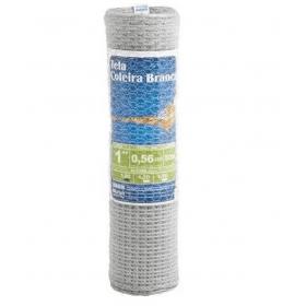 Tela para Galinheiro Morlan Coleira Branca 2″ fio BWG 18 (1,24mm) - 1,20 x 50 - Alambrado