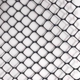 """Tela Plastica Hexagonal Preta 1,25 cm - Viveiro 1x50m com malha de 1/2"""""""