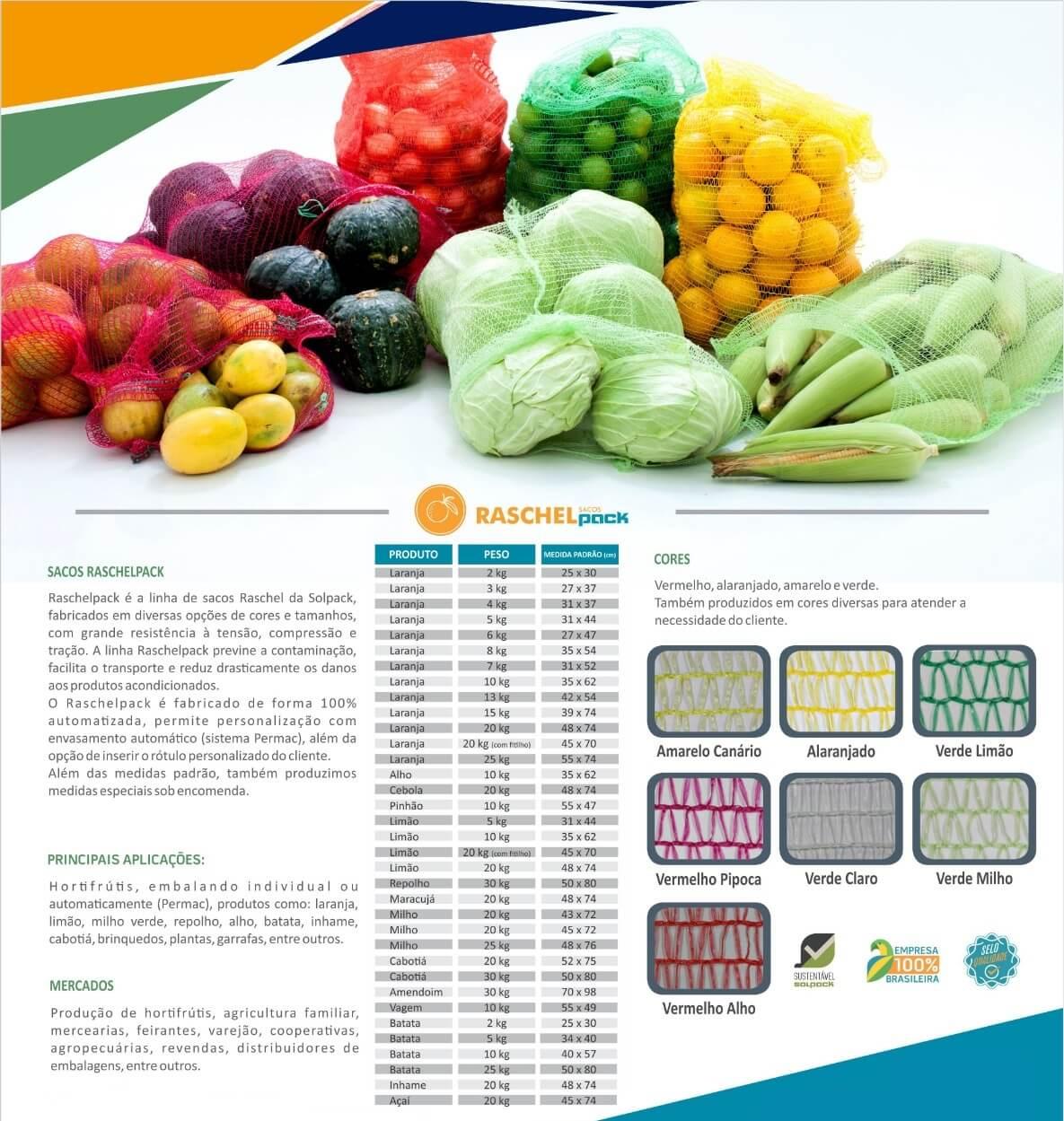 embalagem de rede para frutas